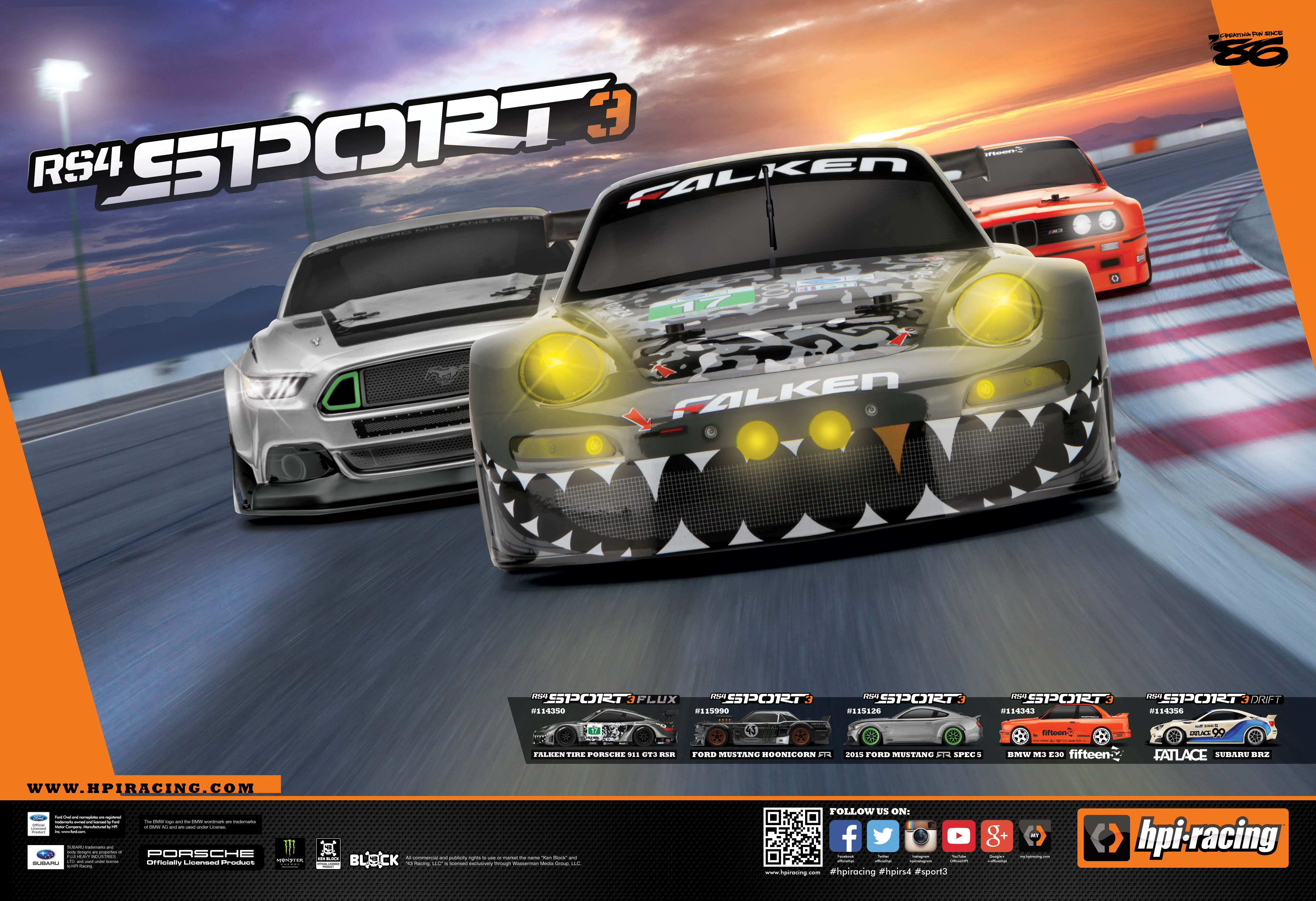 Brighten up your RC workspace with a FREE poster featuring the RS4 Sport 3