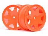 #100623 ULTRA 7 WHEELS ORANGE 35mm (2pcs)
