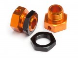 #101792 6.7MM HEX WHEEL ADAPTER TROPHY BUGGY (ORANGE/BLK)