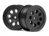 #103039 ST-8 WHEEL BLACK (0mm OFFSET/2pcs)