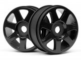 #103677 V7 WHEEL BLACK (42x83mm/2pcs)