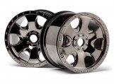 #105801 WARLOCK WHEEL BLACK CHROME (83x56mm/2pcs)