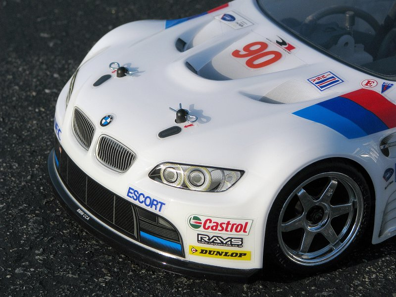 106976 BMW M3 GT2 BODY (PAINTED/WHITE/200mm)