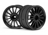 #107972 WR8 TARMAC WHEEL BLACK (2.2