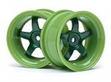 #111091 WORK MEISTER S1 WHEEL GREEN 26mm (6mm OS/2pcs)