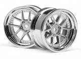 #111276 DY-CHAMPION 26mm WHEEL (CHROME/SILVER/6mm OS/2pcs)