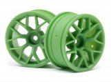 #112811 RTR WHEEL 26MM GREEN (6MM OFFSET/2PCS)