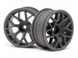 #112812 RTR WHEEL 26MM GUNMETAL (6MM OFFSET/2PCS)