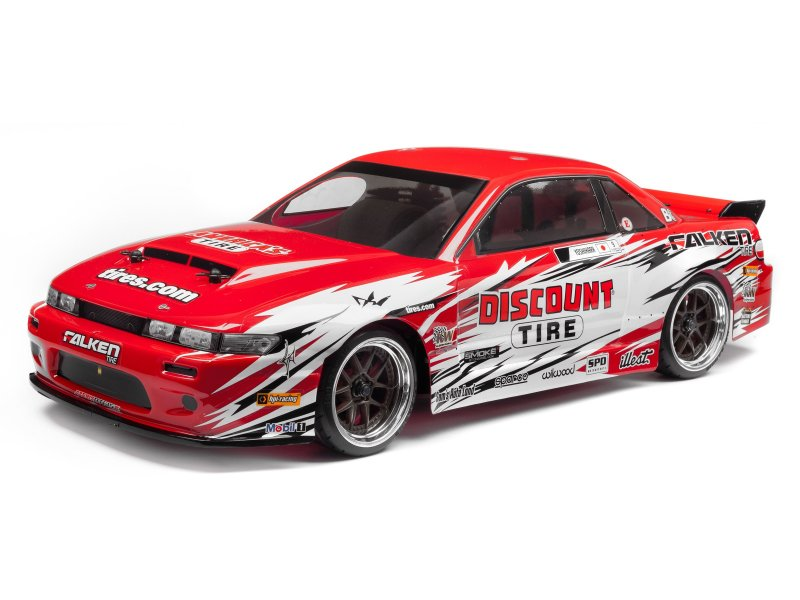 113086 NISSAN S13/DISCOUNT TIRE PAINTED BODY (NITRO 3/200MM)