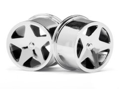 Q32 SUPER STAR WHEEL SET F/R (CHROME18x10/18x14/4pcs)