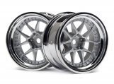 #114636 DY-CHAMPION 26mm WHEEL (CHROME/SILVER/9mm OS/2pcs)