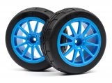 #115155 MOUNTED GYMKHANA TIRE/SPEEDLINE CORSE TURINI WHEEL SET (CYAN/2PCS)
