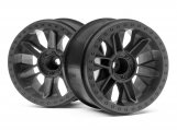 #116528 6-SHOT ST WHEEL (BLACK/2PCS)