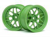#116531 TECH 7 WHEEL GREEN 52X26X+6MM OFFSET (2PCS)