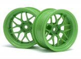 #116532 TECH 7 WHEEL GREEN 52X26X+9MM OFFSET (2PCS)
