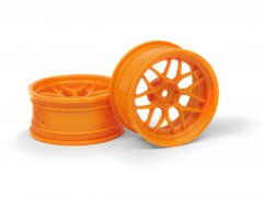 TECH 7 WHEEL ORANGE (6MM/2PCS)