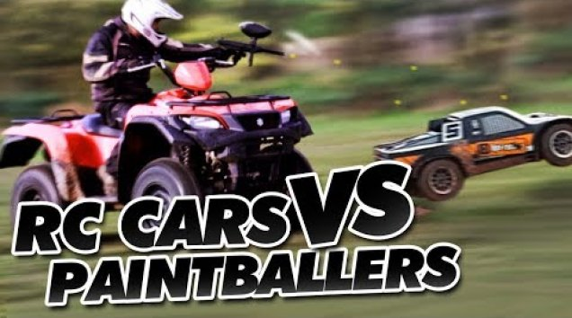 Видео HPI TV: RC Cars Vs Paintballers