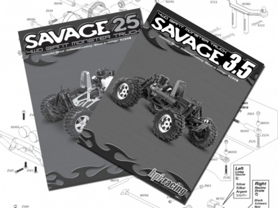 PDF Savage 3 5 and Savage 25 (Ltd ) Instructions bei HPI Racing RC