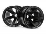 #2105 SUPER STAR MT WHEELS FRONT (BLACK/2.2in/2pcs)