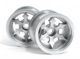 #3083 SPIKE TRUCK WHEEL (MATTE CHROME/2pcs)