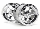#3117 6 SPOKE WHEEL SHINY CHROME (83x56mm/2pcs)