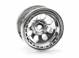 #3213 ROCK 8 BEAD LOCK WHEEL CHROME (55x36mm/2pcs)