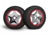 #3224 SUPER STAR WHEEL SHINY CHROME (120x60mm/2pcs)