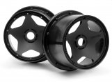 #3226 SUPER STAR WHEEL BLACK (120x75mm/2pcs)