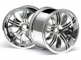 #3252 TREMOR WHEEL CHROME (115x70mm 7inch/2pcs)