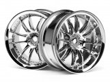 #3280 WORK XSA 02C WHEEL 26mm CHROME (3mm OFFSET)