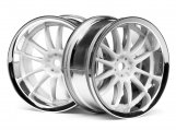 #3283 WORK XSA 02C WHEEL 26mm CHROME/WHITE (3mm OFFSET)