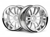 #3285 WORK XSA 02C WHEEL 26mm CHROME/WHITE (9mm OFFSET)