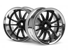 WORK XSA 02C WHEEL 26mm CHROME/BLACK (6mm OFFSET)