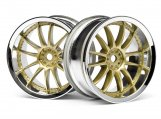 #3297 WORK XSA 02C WHEEL 26mm CHROME/GOLD (3mm OFFSET)