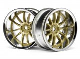 #3299 WORK XSA 02C WHEEL 26mm CHROME/GOLD (9mm OFFSET)