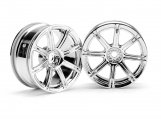#3300 WORK EMOTION XC8 WHEEL 26mm CHROME (3mm OFFSET)