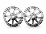 #3301 WORK EMOTION XC8 WHEEL 26mm CHROME (6mm OFFSET)