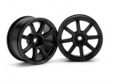 #3306 WORK EMOTION XC8 WHEEL 26mm BLACK (3mm OFFSET)