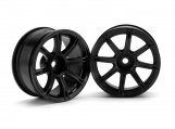 #3307 WORK EMOTION XC8 WHEEL 26mm BLACK (6mm OFFSET)