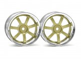 #3319 RAYS GRAM LIGHTS 57S-PRO CHROME/GOLD (3mm OFFSET)