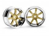 #3320 RAYS GRAM LIGHTS 57S-PRO CHROME/GOLD (6mm OFFSET)