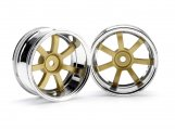 #3321 RAYS GRAM LIGHTS 57S-PRO CHROME/GOLD (9mm OFFSET)
