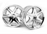 #3343 LP29 WHEEL WORK LS406 CHROME (2pcs)