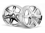 #3344 LP32 Felge Work LS406 Chrom (32mm/6mm Offset/2St)