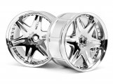 #3345 LP35 WHEEL WORK LS406 CHROME (2pcs)