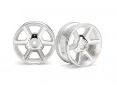 GT WHEEL SILVER (6mm OFFSET/2pcs)