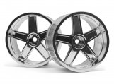 #33478 LP35 WHEEL MF TYPE CHROME (9mm OFFSET/2pcs)