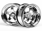 #3591 WORK MEISTER S1 WHEEL 26mm CHROME (3mm OFFSET)
