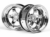 #3592 WORK MEISTER S1 WHEEL 26mm CHROME (6mm OFFSET)