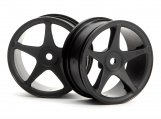 #3696 SUPER STAR WHEELS 26mm BLACK (1mm OFFSET)